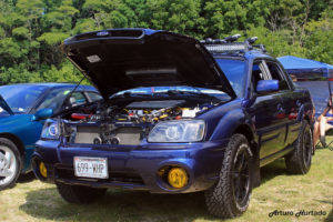 off road subaru baja with a lift kit. Similar to outback.