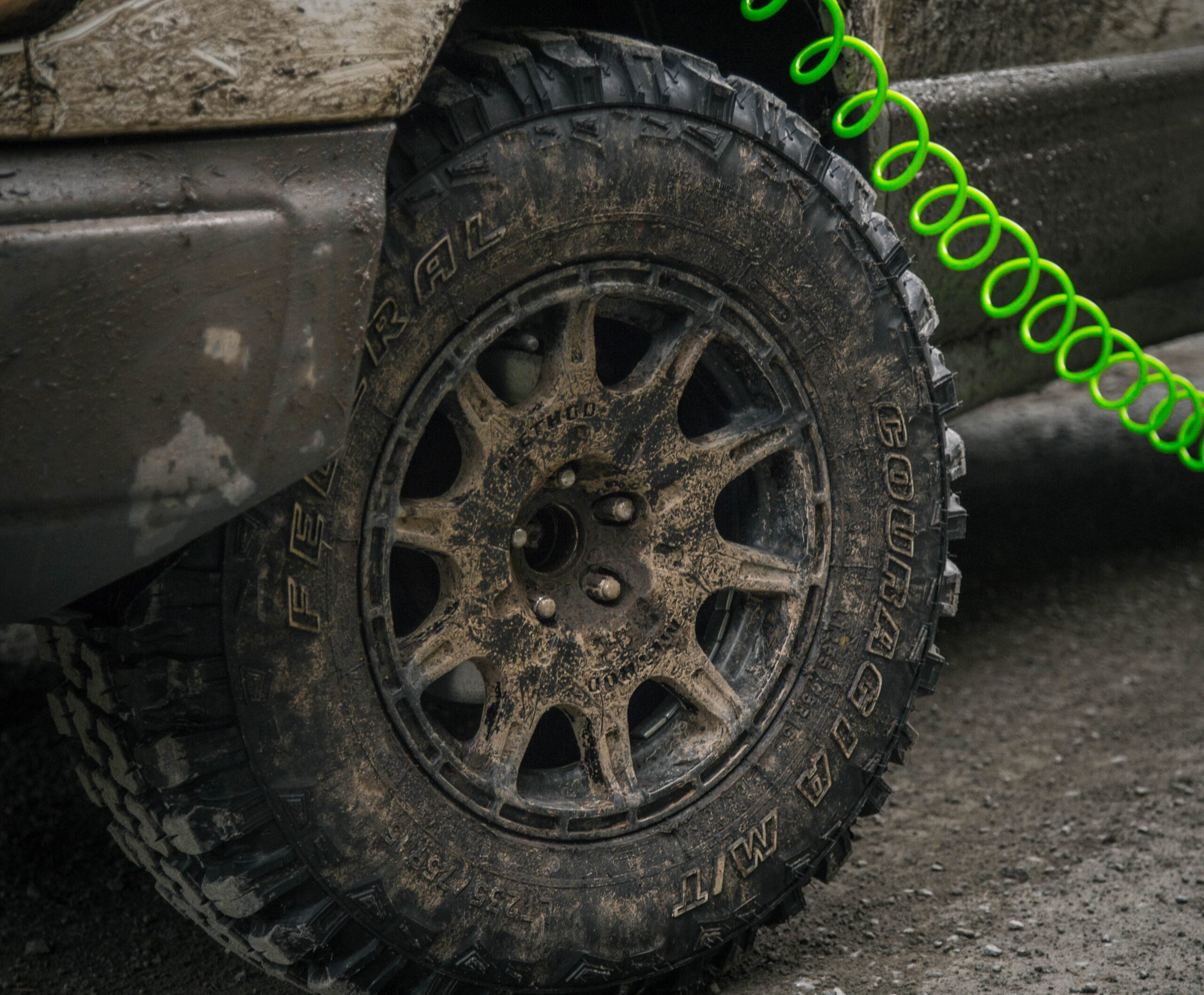Federal Couragia MT mud tires on a Subaru Forester