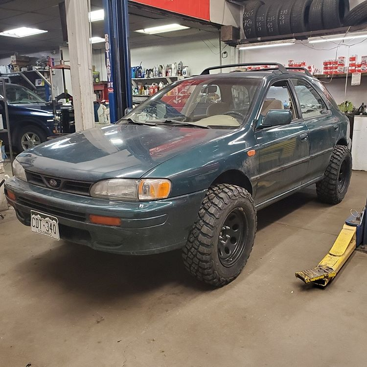Lifted impreza in the shop