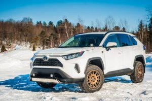 LP aventure lifted toyota rav4 with all terrain off road tires