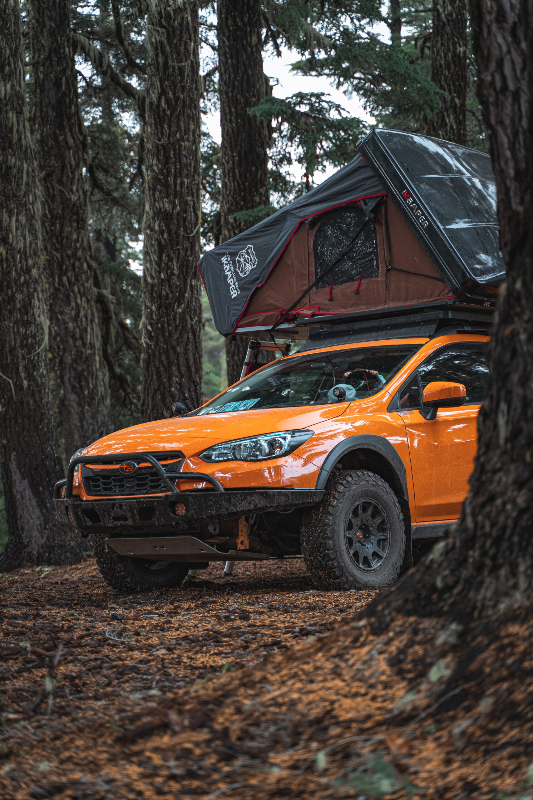 lifted subaru crosstrek with a lift kit and off road wheels