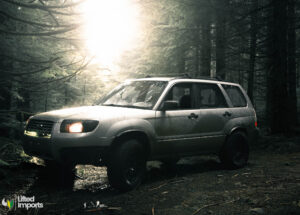 Subaru Forester with off road lift kit and all terrain tires