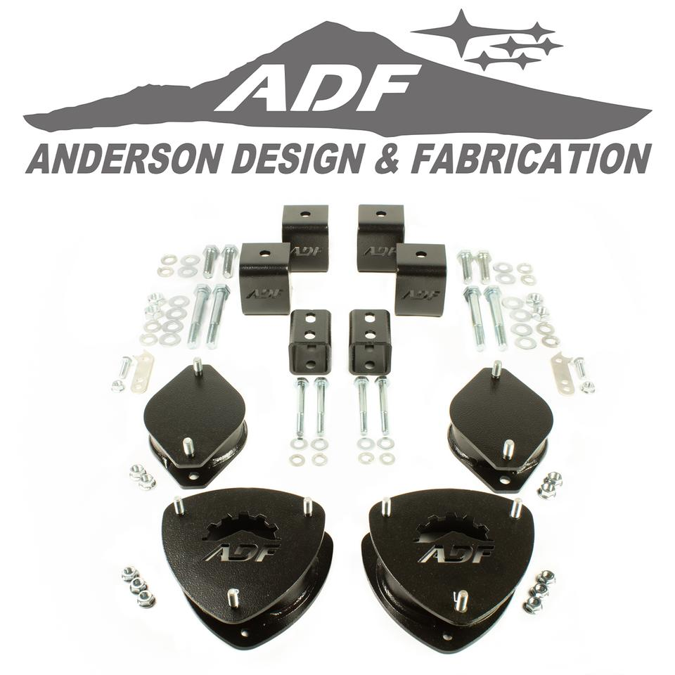 09-13 Forester 2 inch lift kit anderson design