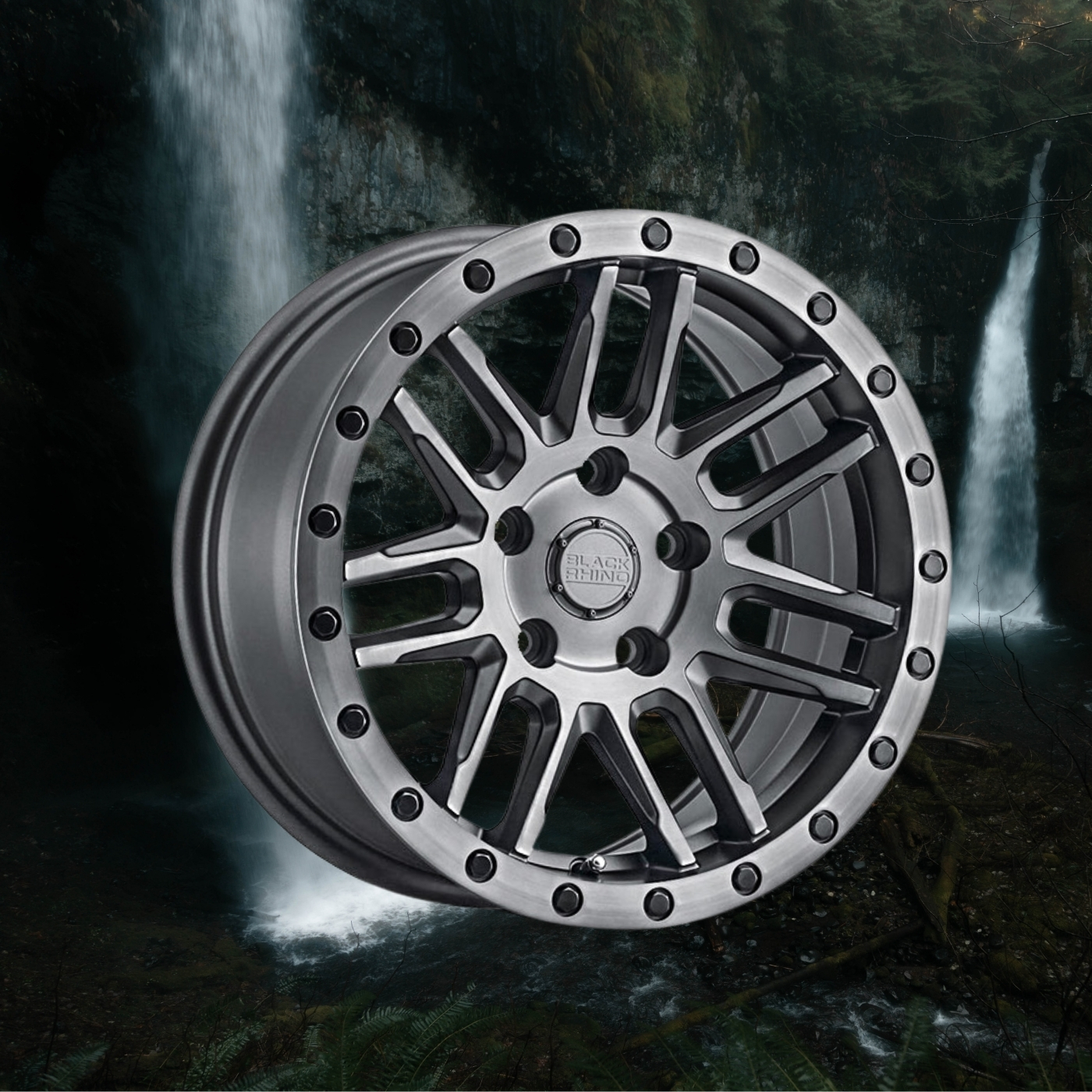 Black rhino Arches wheel for lifted subarus for off road use