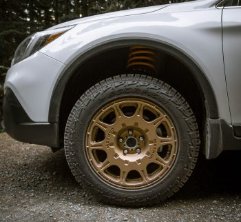 Pirelli Scorpion All terrain plus snow rated tire on a lifted subaru outback 2018