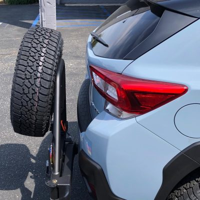 RigD ultraswing rear tire carrier for off road vehicles